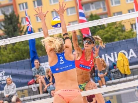 Elize Maia/Thâmela vai às quartas na etapa de Praga do Mundial de vôlei de praia