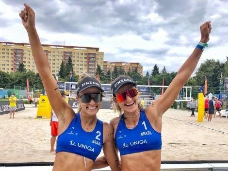 Vôlei de praia: Etapa de Praga terá semifinal brasileira no feminino