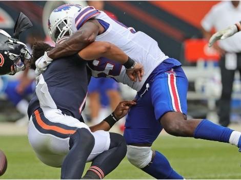 VIDEO: Justin Fields se llevó un duro golpe en el encuentro entre Bears y Bills