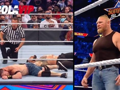 WWE SummerSlam 2021: Brock Lesnar le robó el show a Roman Reigns y al derrotado John Cena