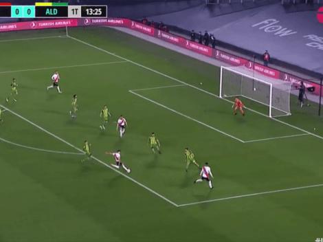 Video: Julián Álvarez metió un derechazo letal y puso el 1 a 0 de River