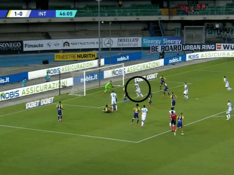 Video: Lautaro Martínez metió la cabeza y le dio el empate a Inter