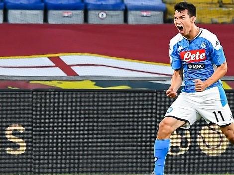 Con Hirving Lozano como titular, Napoli superó a Genoa