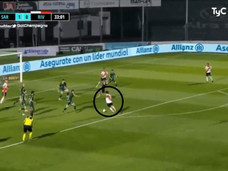 Video: Casco armó una gran jugada y Carrascal rompió el arco para el 1-1 de River