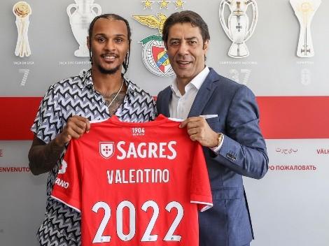 Benfica anuncia Valentino Lázaro como mais novo reforço