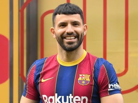 Barcelona inscribió al Kun Agüero sobre la hora