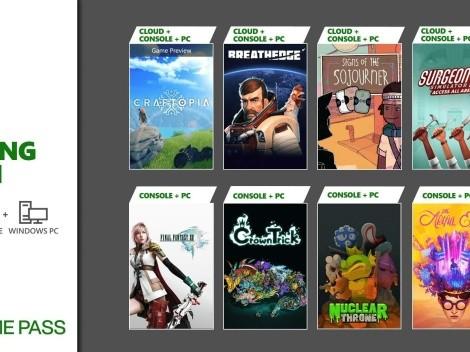 Xbox Game Pass: Final Fantasy XIII, Surgeon Simulator 2 e mais jogos são anunciados