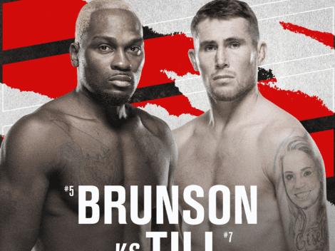 Cuándo pelean Derek Brunson vs. Darren Till | Cartelera completa, fecha, hora y TV del UFC Fight Night