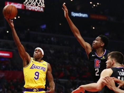 A LeBron le va a gustar: Rajon Rondo le pega a Los Angeles Clippers