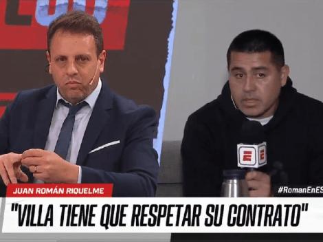 El incómodo silencio de Riquelme en plena entrevista cuando le preguntaron por Villa