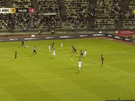 Lo Celso hizo una de Román y dejó solo a Lautaro para el 1 a 0 de Argentina