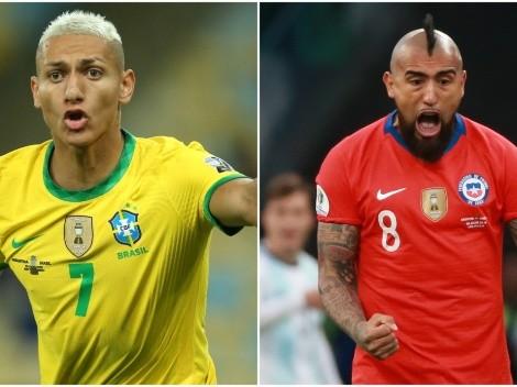 """Vidal rebate provocação de Richarlison e chama o atacante brasileiro de """"palhaço"""