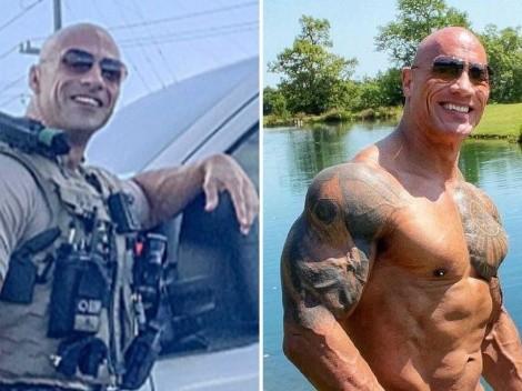 "Dwayne ""The Rock'"" Johnson invitó a su doble a tomar tequila"