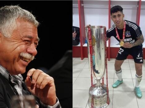 Carlos Caszely felicita a Bryan Soto por la Copa Chile de Colo Colo