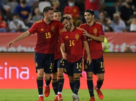 España se recuperó en las Eliminatorias con una goleada a Georgia