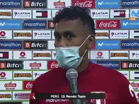 """Renato Tapia bastante criterioso: """"A pesar de cómo se jugó, los tres puntos valen oro"""""""
