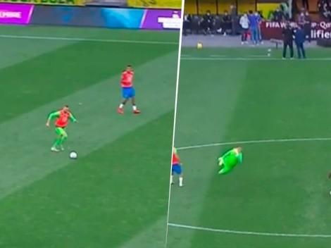 Weverton clavó un golazo mientras Argentina volvía al vestuario