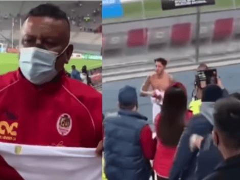 Gianluca Lapadula le obsequió a su primo la camiseta después de 'sudarla' ante Venezuela