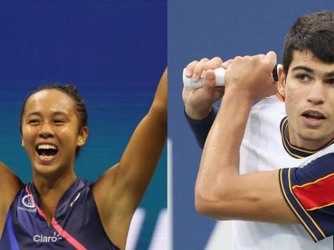 Carlos Alcaraz y Leylah Fernández, los animadores sorpresivos del US Open