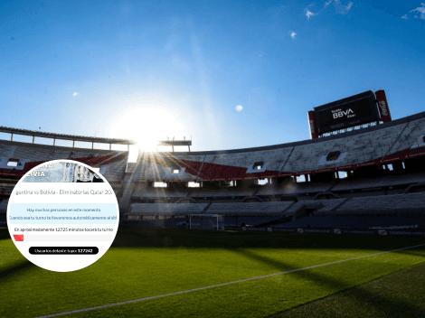 """¡Explotó la venta! Locura de los hinchas en la """"cola virtual"""" para las entradas de Argentina vs. Bolivia"""
