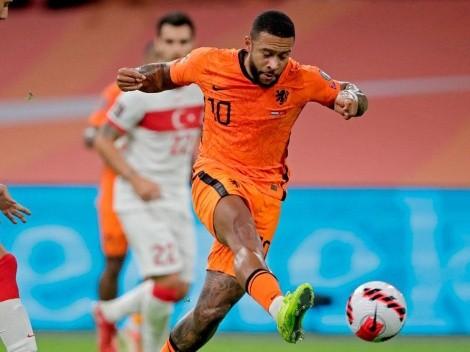 Show de Memphis Depay: hat-trick en la goleada de Países Bajos sobre Turquía
