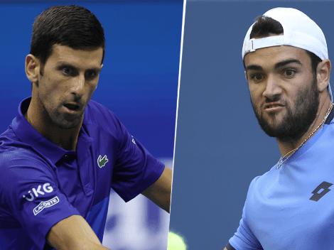 VER EN VIVO Novak Djokovic vs. Matteo Berrettini | TV y Streaming para seguir EN DIRECTO el duelo por los cuartos de final del US Open