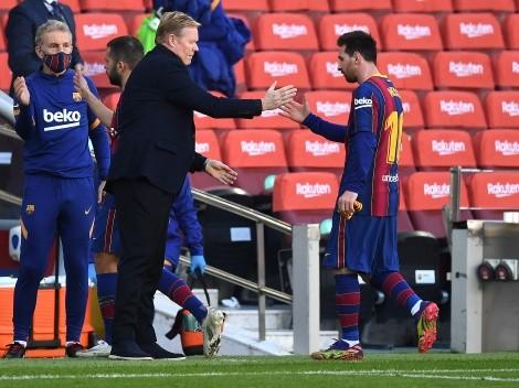 La particular reflexión de Koeman sobre la salida de Messi