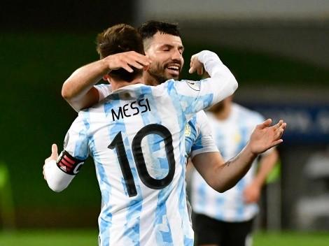 El Kun Agüero habló por primera vez de la salida de Messi del Barcelona