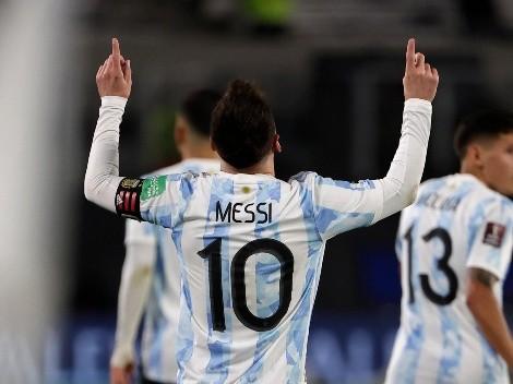 Messi faz um golaço e marca o seu 77º gol dele pela seleção argentina