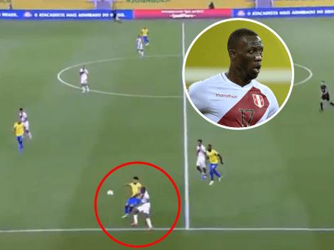 Que no vea Battaglia: el grosero error de Advíncula que terminó en gol de Brasil a Perú