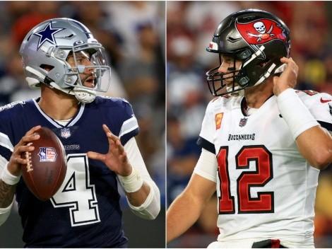 Lo que se dijeron Prescott y Brady al final del juego Cowboys vs. Bucs