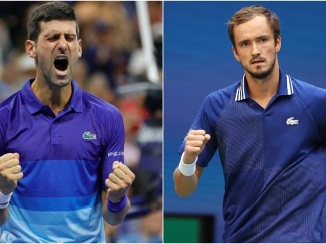 Novak Djokovic x Daniil Medvedev: horário e como assistir AO VIVO à final masculina do US Open 2021