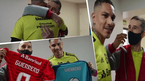 Paolo Guerrero apoyó a hincha del Inter de Porto Alegre con tumor desde 2019