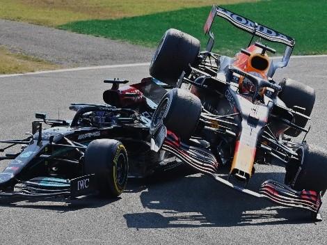 Casi acaba en tragedia: el impresionante choque entre Verstappen y Hamilton