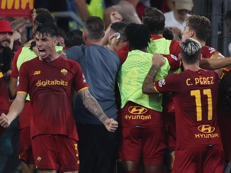 La eufórica celebración de Mourinho con el gol sobre la hora