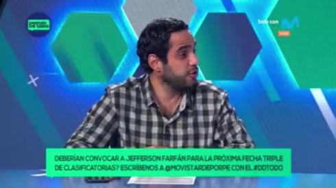 Horacio Zimmermann es panelista en Después de Todo de Movistar Deportes.