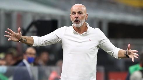 AC Milan coach Stefano Pioli. (Getty)