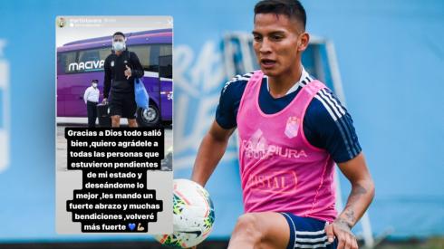 """Martín Távara dejó un mensaje después de su operación: """"Gracias a Dios todo salió bien. Volveré más fuerte"""""""
