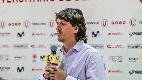Jean Ferrari es el nuevo administrador de Universitario hace solo unos días.