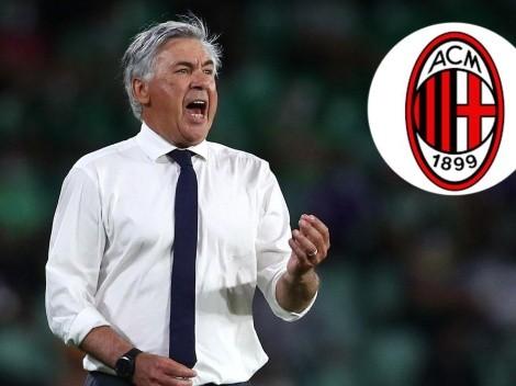 Carlo Ancelotti y una revelación que no le cae bien a los hinchas de Milan