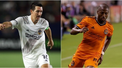 Sacha Kljestan of LA Galaxy (left) and  Fafa Picault of Houston Dynamo (Getty).