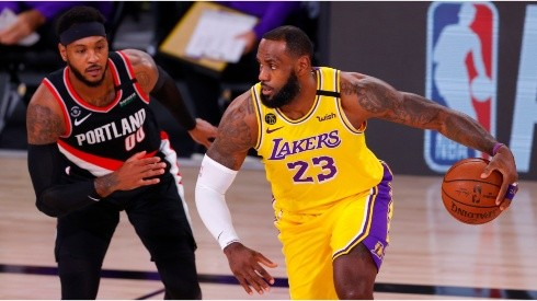 Carmelo Anthony & LeBron James. (Getty)