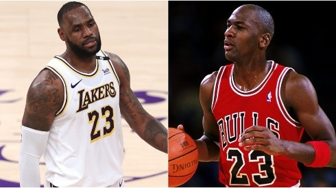 LeBron James (left) & Michael Jordan. (Getty)