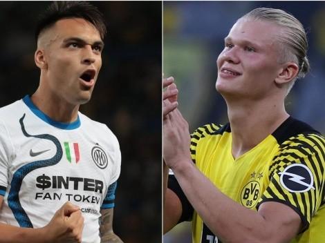 Lautaro Martínez y otros candidatos a reemplazar a Haaland en Dortmund