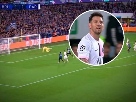 VIDEO: El travesaño le negó a Messi su primer gol con el PSG