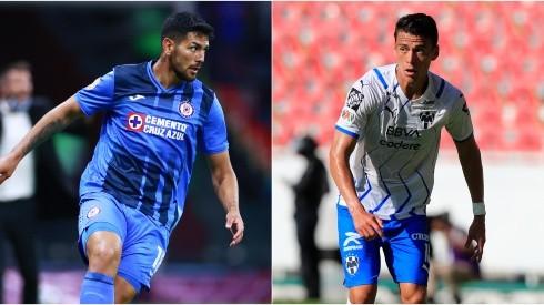 Lucas Passerini of Cruz Azul (left) and Hector Moreno of Monterrey (Getty).