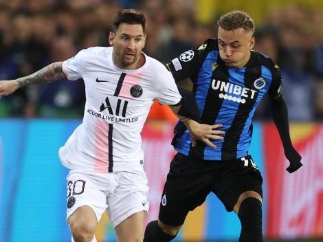 Con Messi de arranque, PSG fue sorprendido por Brujas y empataron 1-1