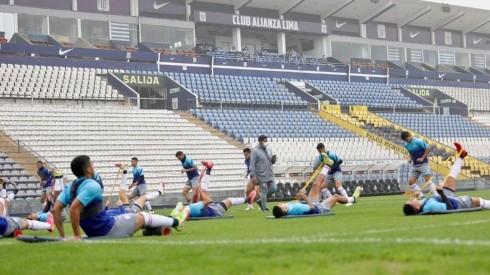 Alianza Lima entrena en Matute a cargo de Carlos Bustos.