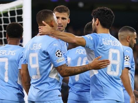 Melhores momentos da goleada do Manchester City na estreia da Champions League