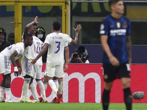Con un gol de Rodrygo, el Madrid le ganó al Inter en el debut por Champions